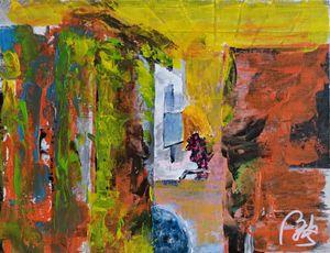 Detritus I: Woman working