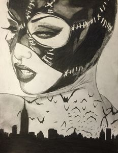 Catwoman over gotham