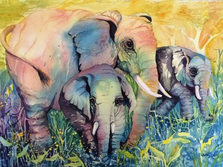 Sacred Souls Elephants Susan J. Berg - Susan J. Berg