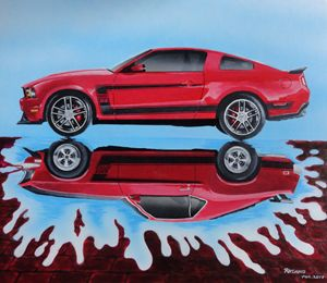 Mustang's Reflection - Robert A.Cano