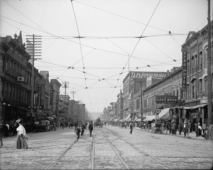 Market Street in 1907 - Historic Chattanooga