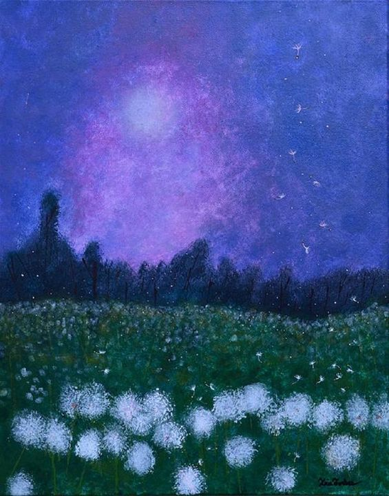 Dandelion Dreams - Simplicity of Art by Iris Forbes