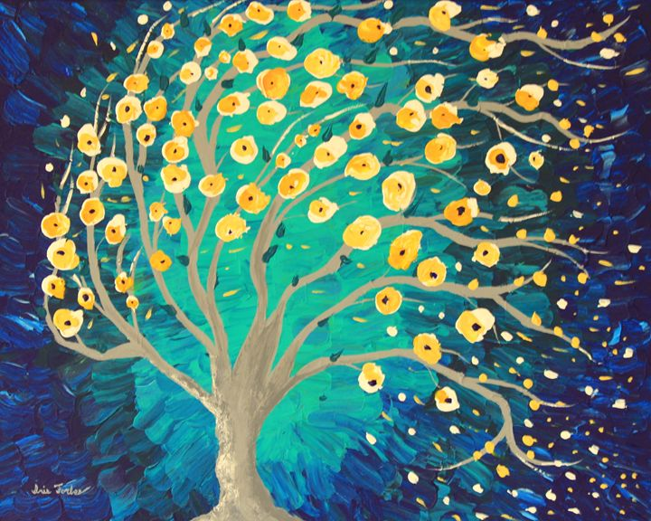 Lemony Blossoms - Simplicity of Art by Iris Forbes