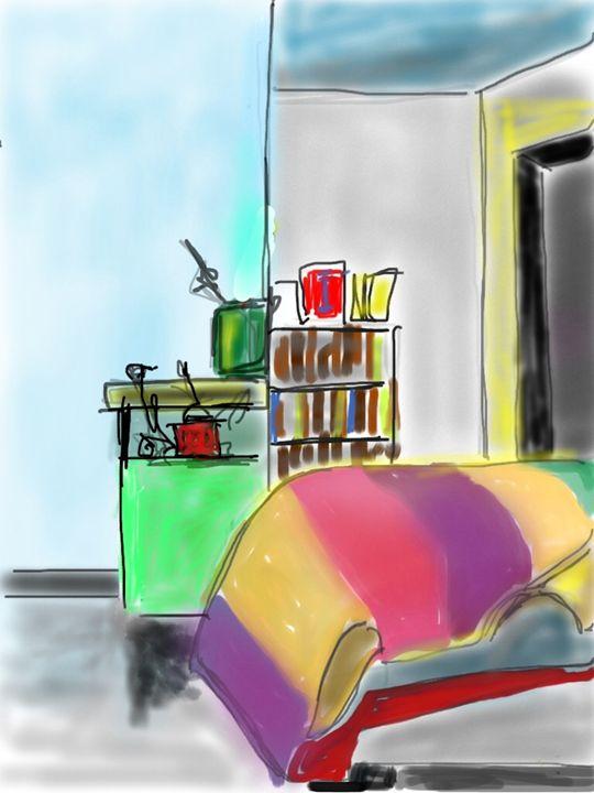 The Artist's Bed - DavidMartinArt