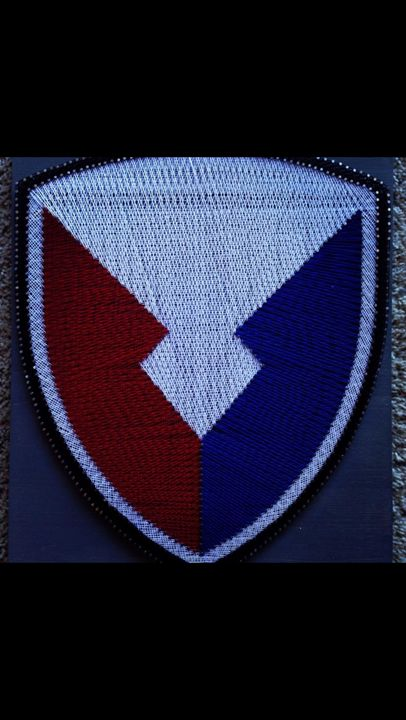 String Art Military Command Insignia - Things Stringed