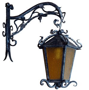 Wrought iron outdoor vintage light - Best artwork