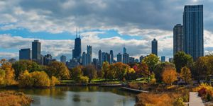 Chicago, Lincoln Park in fall
