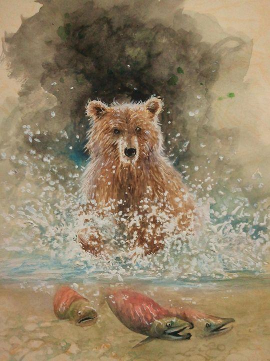 Water splash - Najwan Fine Art