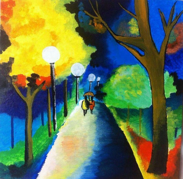 Couple In Moonlight - 2amArtGallery
