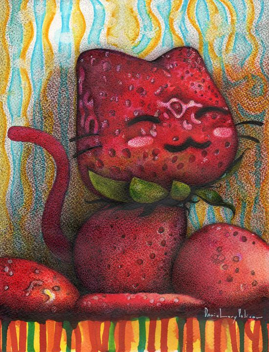 STRAWBERRY CAT - danile levy policar