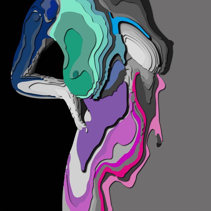 Women abstract body - Magdalena Ziemak
