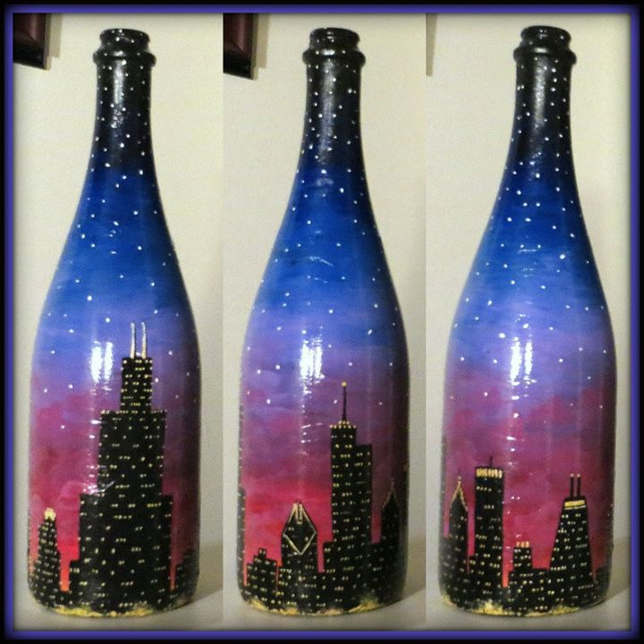 Chicago at Sunset - Kristen Ann's Paintings