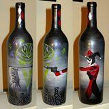 acrylic on an empty wine bottle