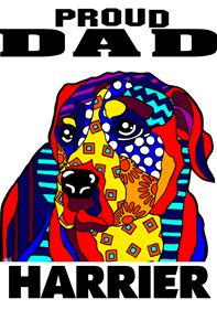Harrier Proud Dad Dog Lover Father