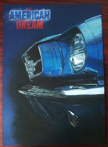 Ford Mustang Car Drawing Painting