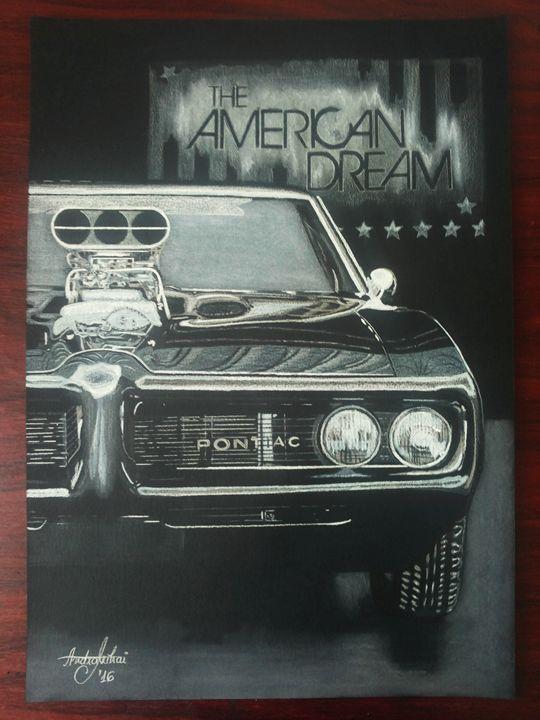 Realistic Drawing Muscle Car Pontiac - AEM Design