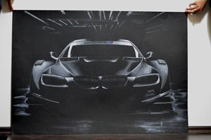 Car Drawing Painting BMW M DTM - AEM Design