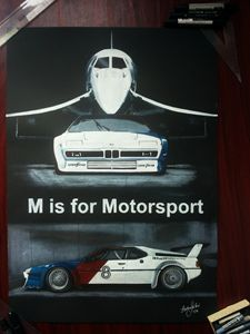 Car Drawing Painting BMW M1 Art