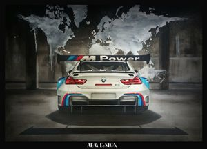 Realistic Car Drawing BMW M6 DTM - AEM Design