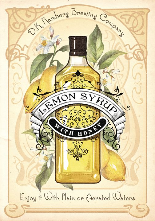 Lemon Syrup with Honey - Hejdenberg Art