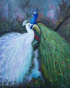 Two Peacocks - Suk Sun