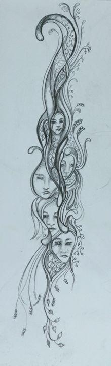 Many Faces - AmarisMorn Art