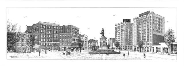 Monument Square, Portland ME - William C Harrison