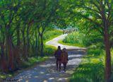 couple path trail summer walking