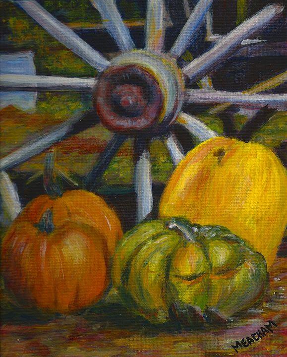 Wheel and Harvest Still Life - Barbara J Meacham
