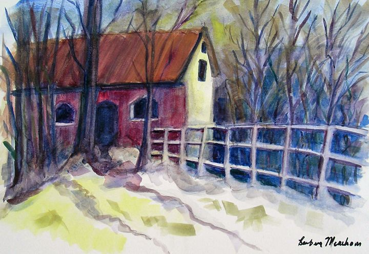 House in Winter - Barbara J Meacham