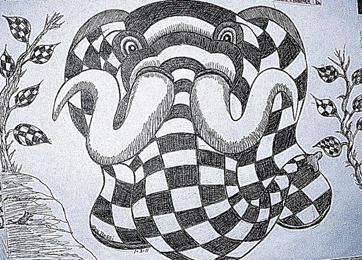 Checkered Elephant - Reynoldo