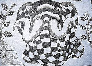 Checkered Elephant