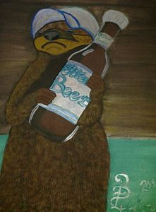 """Otter """"Grabbing a cold one."""""""