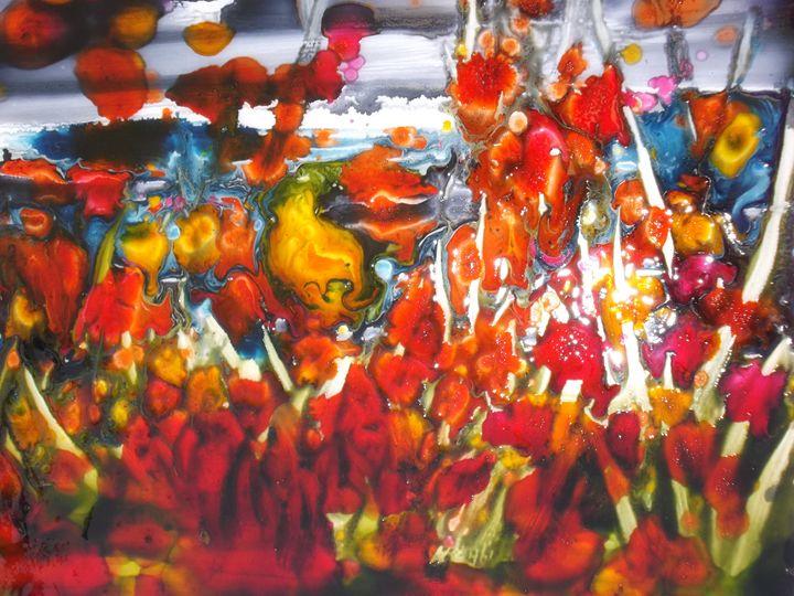 Poppies and flowers - Le Aly di Lia di Donatella Marraoni