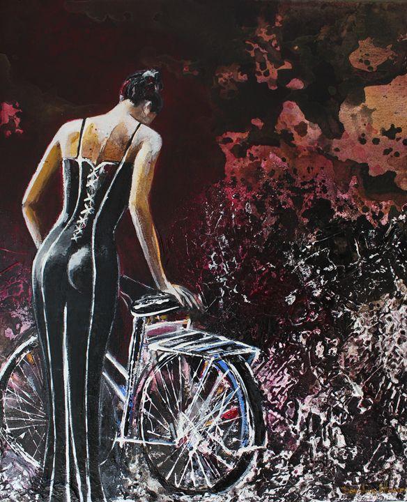 Woman % bike ...by night - Le Aly di Lia di Donatella Marraoni