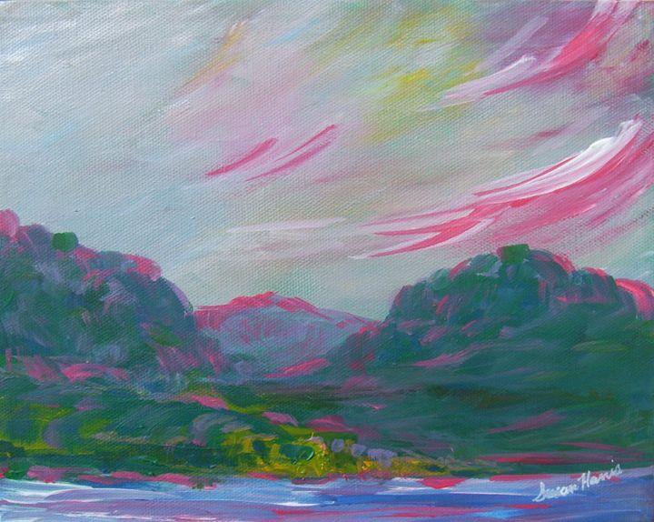 Pink Evening - Heaven Touching Earth Art by Susan Harris