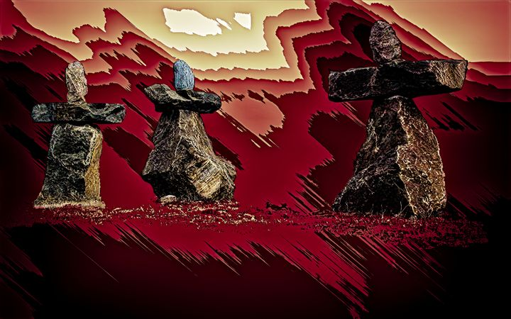 Midnight Sun Dancers - Wib Dawson Paintings
