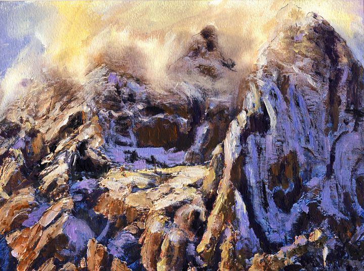 Red Rock Snow Squall - Randy Sprout Fine Art