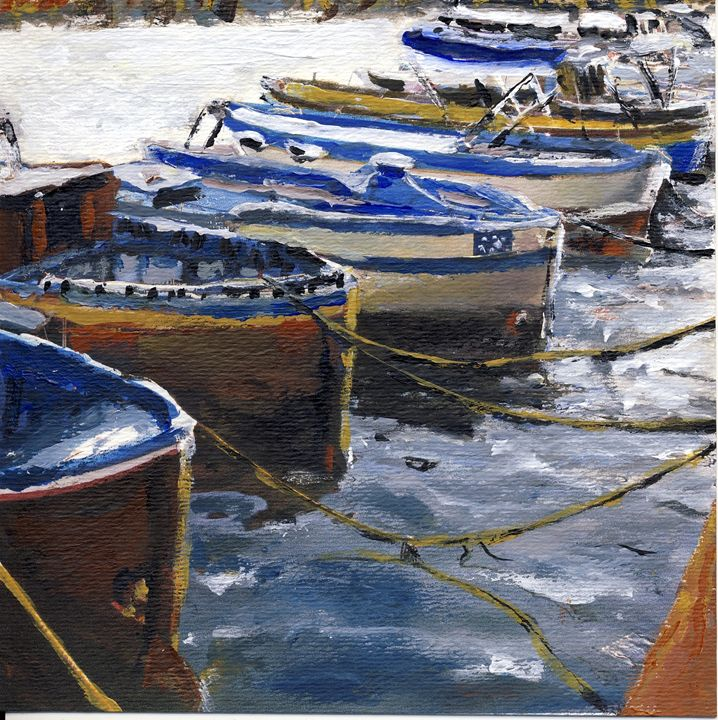 Fishing Boats in Procida - Randy Sprout Fine Art