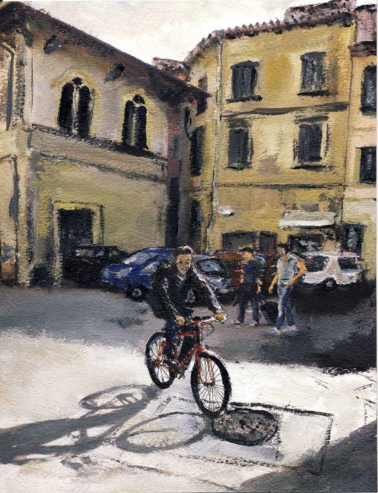 Biker Florencia - Randy Sprout Fine Art
