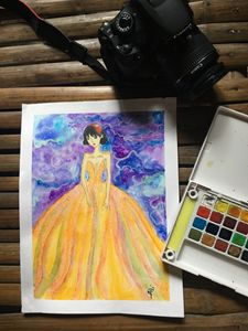 Girl in Rainbow Dress