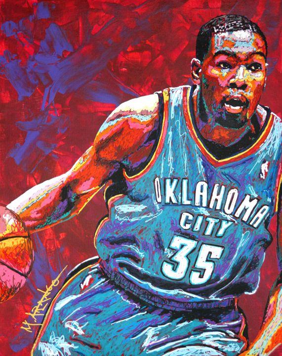 Kevin Durant MVP - M. Arango Art