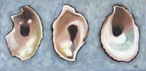 Three Oyster Shells