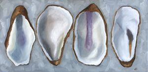 Four Oyster Shells