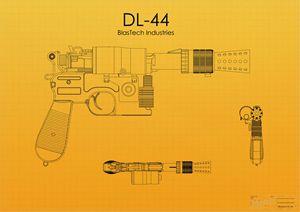 DL-44 Han Solo Blaster Yellow