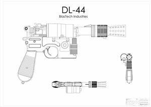 DL-44 Han Solo Blaster White