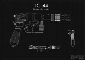 DL-44 Han Solo Blaster Black