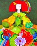 Menina, figurative oil painting