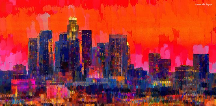 Los Angeles Skyline 112 - Leonardo Digenio
