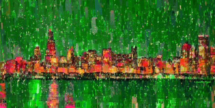 Chicago Skyline 209 - Leonardo Digenio